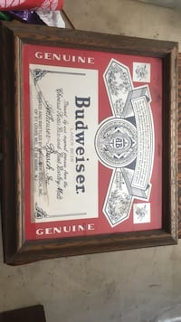 Budweiser White and red wooden frame Palmdale, 93550