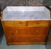 Antique marble top commode NEWYORK