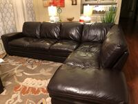 Dark Brown leather 3-seat sofa Washington, 20024
