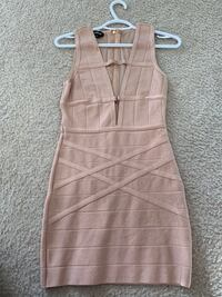 brown and white striped sleeveless dress Jessup, 20794