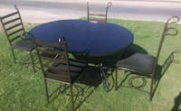 Black Dinette Set with 4 Chairs Montgomery, 36117