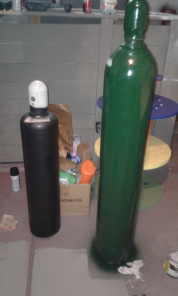 Oxygen and acetylene cylinders