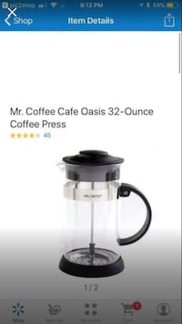 Mr coffee coffee press  Simpsonville, 29681