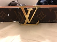 black and brown Louis Vuitton leather belt Leesburg, 20175