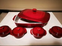 Red Bakeware set New (unused) Langley, V2Y 2G1
