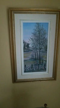 brown wooden framed painting of trees Montreal, H3R 3L4