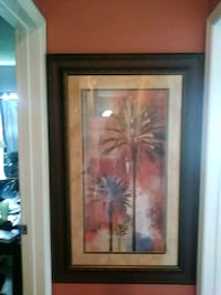 black wood-framed palm trees painting Melbourne, 32901