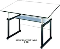 black metal framed glass top table Poinciana, 34759