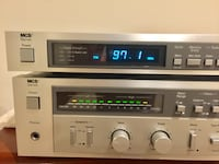 MCS series 3842 Amplifier and MCS series 3762 Tuner Silver Spring