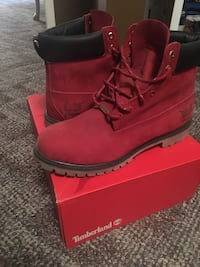 Limited edition Red2016 All Star Timberlands size 13 Mississauga, L5L 4P5