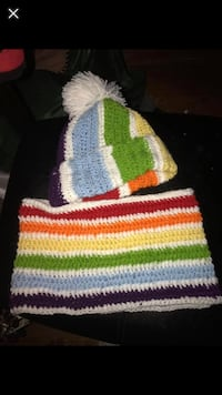 Rainbow crochet hat and scarf Linthicum Heights, 21090