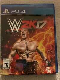 WWE 2K17 PS4 game & case