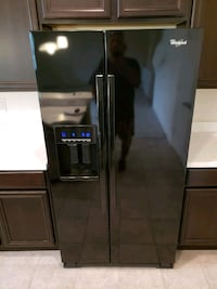 black side-by-side refrigerator with dispenser Kissimmee, 34746