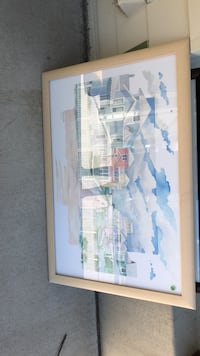painting of town with white frame Woodbury, 55129