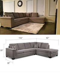 Like New Grey Sectional In Excellent Condition Waterloo, N2K 4K4