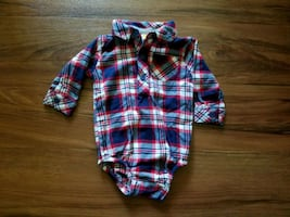 Flannel shirt onesie