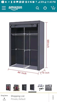 black wooden framed glass cabinet Los Angeles, 90028