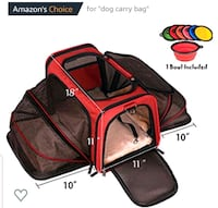 Premium Airline Approved Expandable Pet Carrier by Manvel, 77578