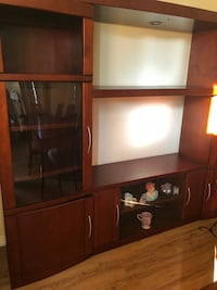 Entertainment center Wall unit with storage