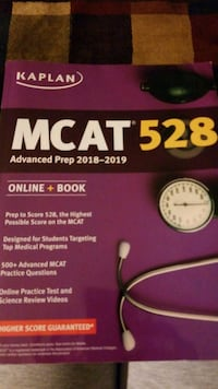 MCAT Kaplan prep book Lexington
