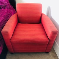 red fabric sofa chair with ottoman Washington, 20319