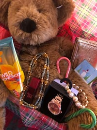 brown bear plush toy and several accessories East Longmeadow, 01028