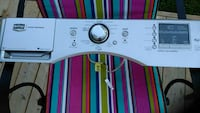 white front load washer control panel