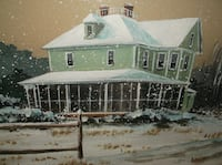 WILLIE CROCKETT ORIGINAL PIC..EASTERN SHORE SNOW SCENE..FANTASTIC! GERMANTOWN