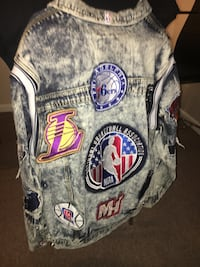 NBA logo jean jacket