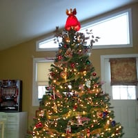 8ft. tall, Former front of Store Ethan Allen artificial Tree/No lights; Newtown Square
