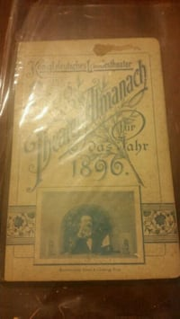 Antique Theatrical Almanac  Carmel, 10512