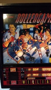 Roller games pinball machine just been serviced find a play Orchard Hills, 21742