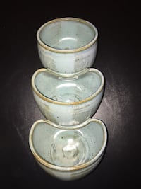 """11""""H 3-tiered pottery wall hanging/catch-all bowl Arlington, 22204"""