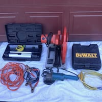 black and yellow DeWalt power drill