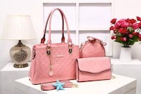 women's pink leather 2-way bag WASHINGTON