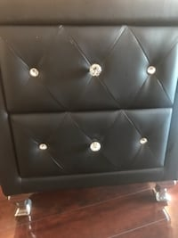 Black faux leather night stand  NEWYORK
