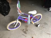 Girls training bicycle with training wheels and tassels Georgetown, 47122