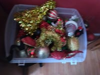 Burgundy and gold Christmas decorations Manassas