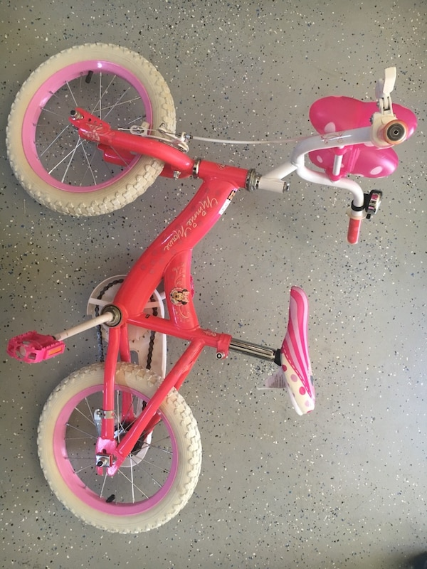 """a515d5430d8 Used Girls Kids Disney Minnie Mouse 12"""" Bike for sale in Fremont - letgo"""