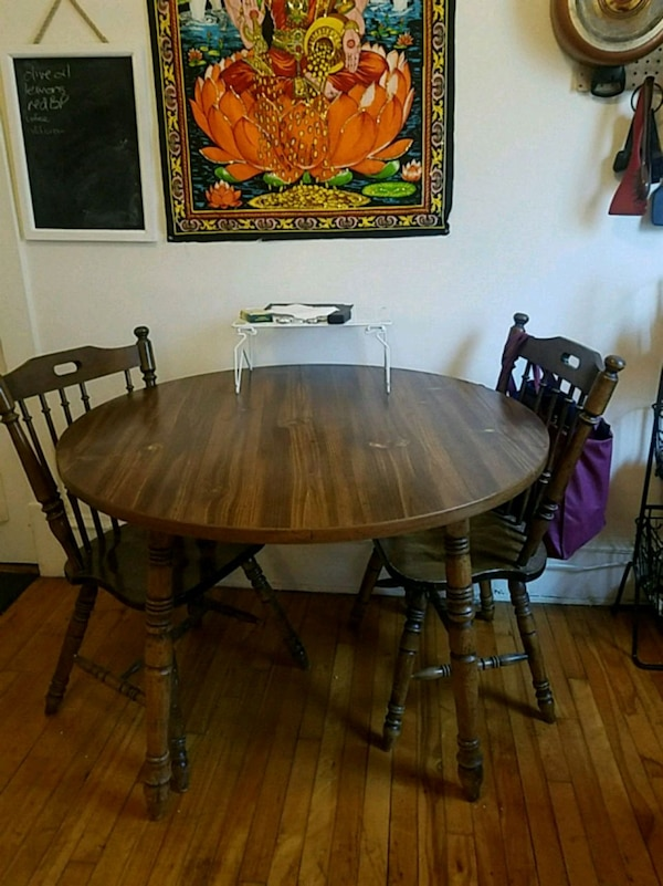 Used Small kitchen table and 2 chairs for sale in ...