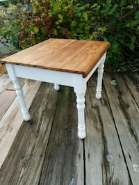 Vintage white and wood accent table   Albany, 12208