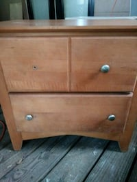 brown wooden 2-drawer chest Tampa, 33619