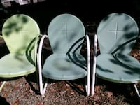 3 Vtg Metal Outdoor Chairs  19362, 19362