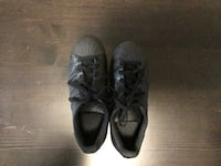 (Size 5 US) Pair of Black Adidas low-top sneakers