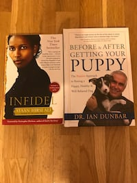 Infidel ayaan hirsi Ali and before and after getting your puppy by Dr.Ian Dunbar book Phoenix, 85051