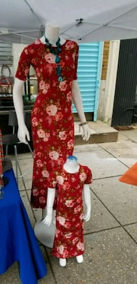 women's red and white floral dress Bladensburg, 20710