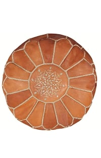 Moroccan Pouf in Caramel  Mississauga, L5B 0H7