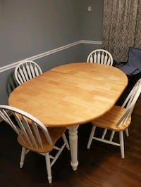 Wood table with 4 chairs