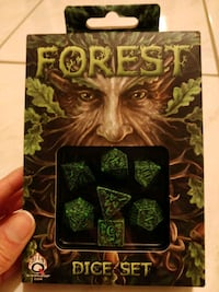 Forest Dice set of 7 die