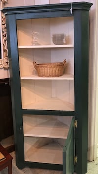 Antique corner cabinet freshly painted Frederick, 21701